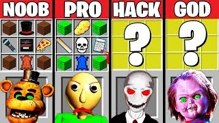 Minecraft Battle: HORROR GAME CRAFTING CHALLENGE - NOOB vs PRO vs HACKER vs GOD Minecraft Animation