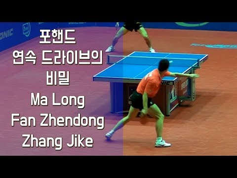 포핸드 연속 드라이브의 비밀The Secret of a Forehand Continuous Drive (Ma Long, Fan Zhendong, Zhang Jike)