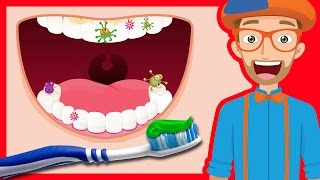 Tooth Brushing Song by Blippi | 2-Minutes Brush Your Teeth for Kids thumbnail