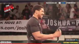 ANTHONY JOSHUA PUBLIC WORK OUT AHEAD OF POVETKIN CLASH