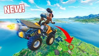 *NEW* QUAD VEHICLE STUNTS IN FORTNITE! - (Fortnite Battle Royale)