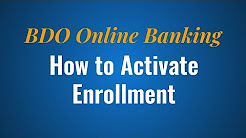 How to Activate BDO Online Enrollment