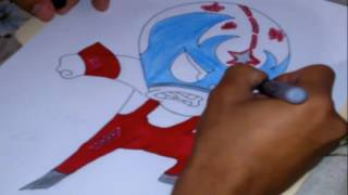 DRAWING AND COLORING TO: RIKOCHET [MUCHA LUCHA]