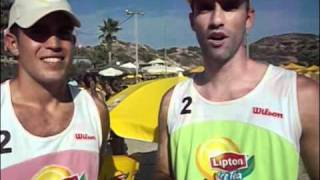 Lipton Ice Tea ΜΑΘΕ Beach Volley Mojito Bay ΒΕΤΟ Bernardo