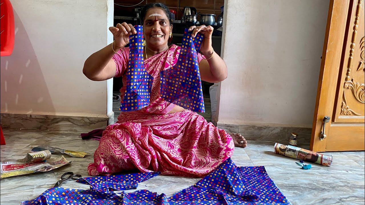 அம்மாவுக்கு எப்படியாவது வாரம் ஒரு Function வந்துருது🥳   blouse Cutting   Amma Kai Pakkuvam