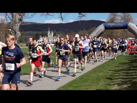 Run Balmoral 2018 Stena Drilling 10K race start at Balmoral Estate, Deeside, Scotland