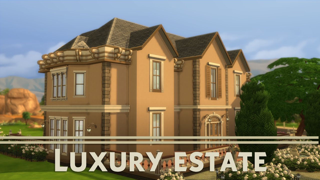 The sims 4 house building luxury estate youtube for Building an estate
