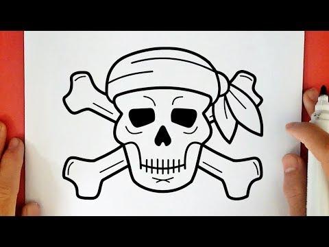Como Desenhar Uma Caveira Pirata Youtube