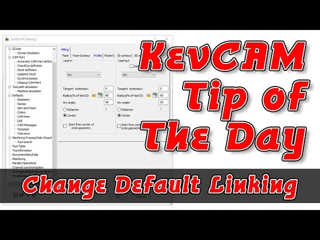Tip of the Day - Change Default Linking