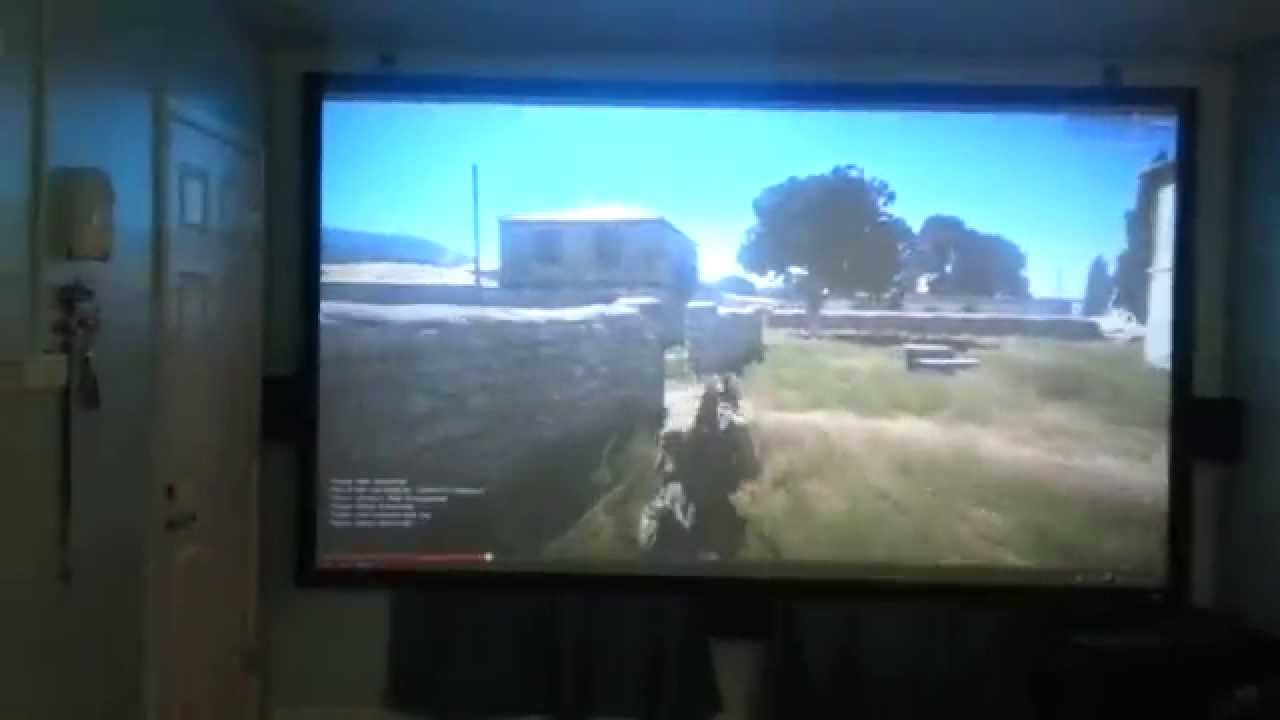 My 135 Quot Gaming Home Theater Ps3 Pc Optoma Hd33 Youtube