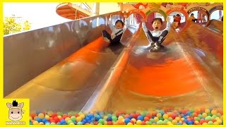 Indoor Playground Learn Colors Family Kids Fun for Play Slide Rainbow Colors Ball | MariAndKids Toys