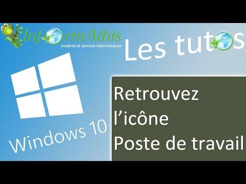 """Astuce Windows 10 : retrouvez l'icône """"poste de travail"""" sur le bureau"""