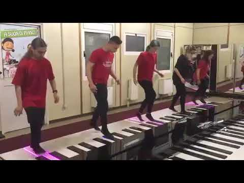Professional Dance On Giant Floor Piano!