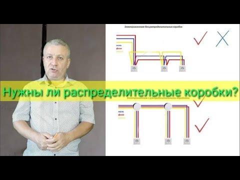 Электромонтаж без распределительных коробок или с коробками,что лучше,как правильно,электрик,Киев