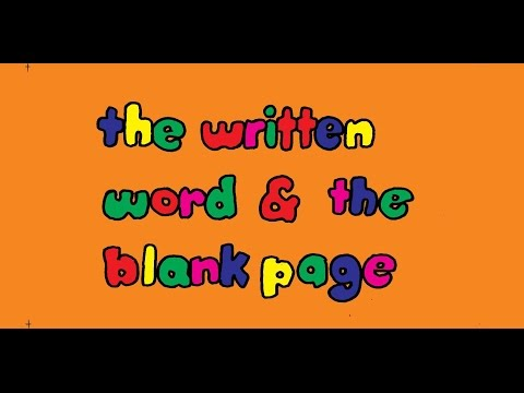 'the Written Word & the Blank Page'  pilot episode