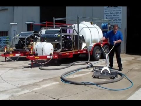 3500 PSI @ 8 GPM Hot Water Pressure Cleaner, AZV88 Wastewater Filtration, Spot Free Rinse Trailer