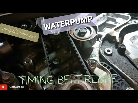 DIY How-to   Acura TL 2006   Waterpump & Timing belt Replacement