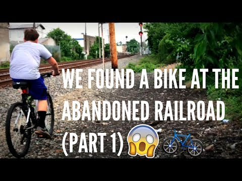 WE FOUND A BIKE AT THE ABANDONED RAILROAD (PART 1)