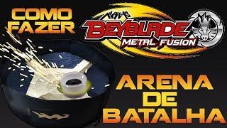 Como Fazer A Melhor Arena Para BEYBLADE - DIY Arena Beyblade