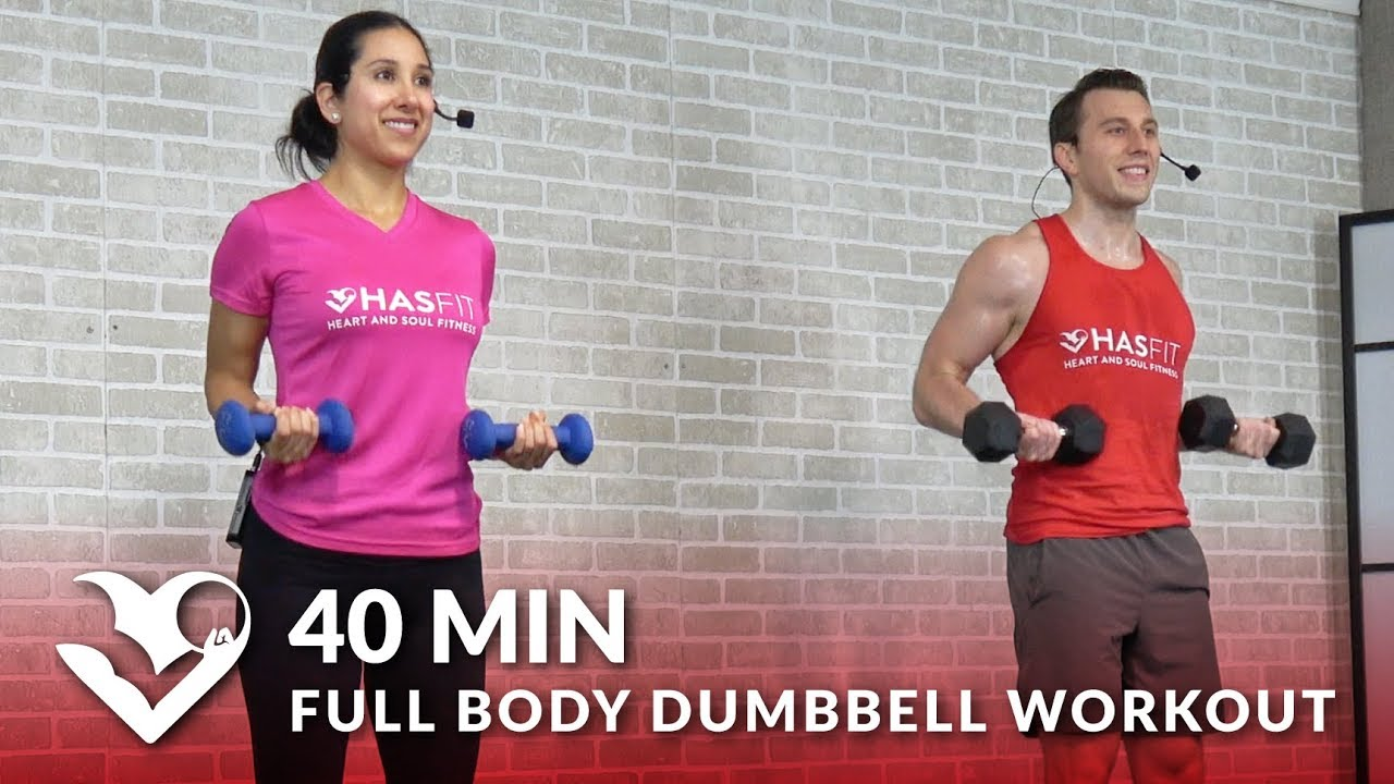 40 Min Full Body Dumbbell Workout At Home Routine
