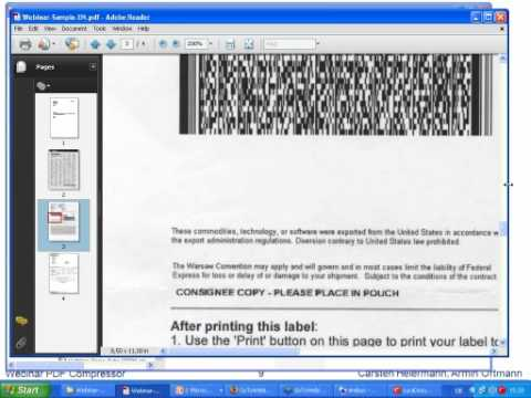 Webinar: Optimal compression & conversion of both scanned & digital documents to PDF and PDF/A