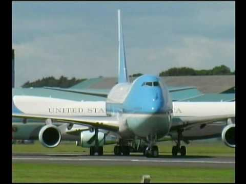 Plane Spotting at Prestwick G8 Summit 2005