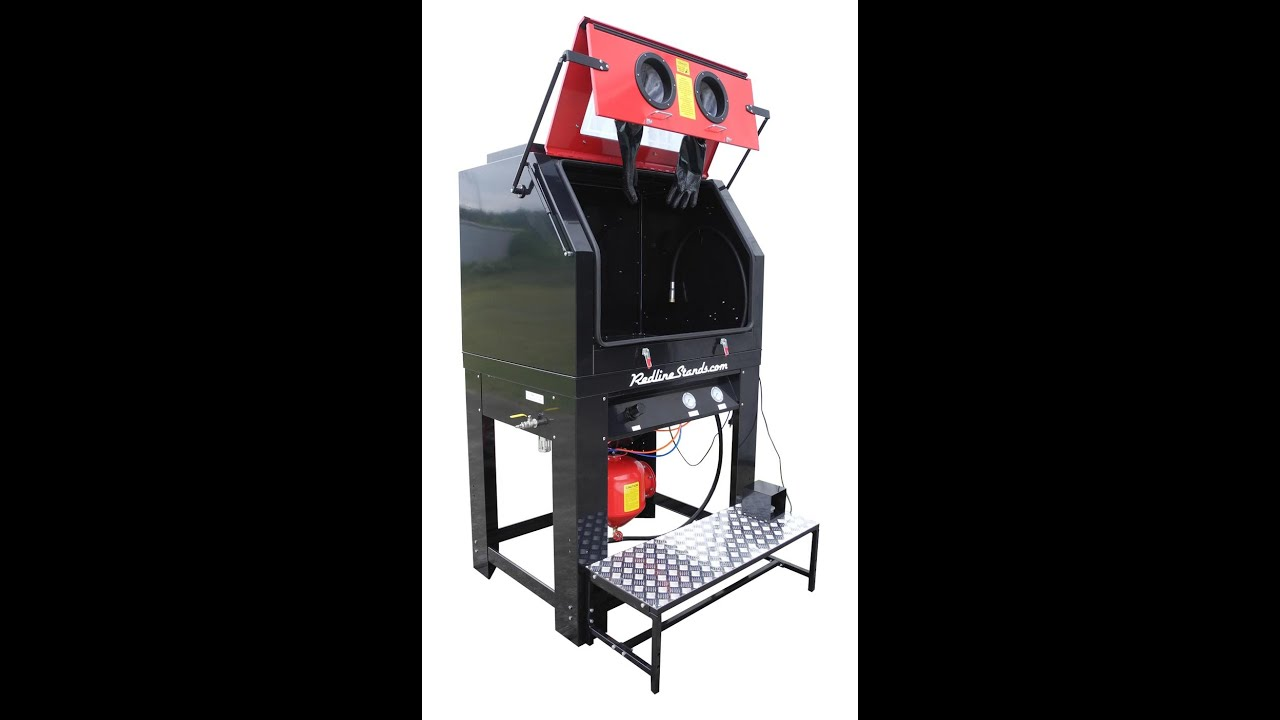 Redline Pressure Pot Media Blast Cabinet - YouTube