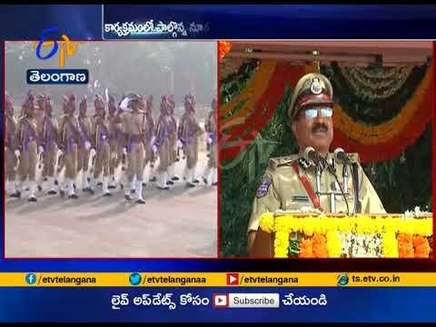 Farewell parade for outgoing Telangana DGP  Anurag Sharma