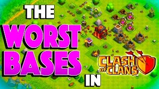 WORST BASES IN CLASH! - Clash of Clans - Bronze League 3 Star Trolling!