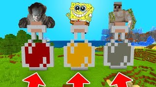Minecraft PE : DO NOT CHOOSE THE WRONG POTION! (Pennywise, Iron & Spongebob)