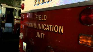 WALK AROUND OF A VERY OLD FDNY FIELD COMMUNICATIONS UNIT IN BROOKLYN, NEW YORK CITY.