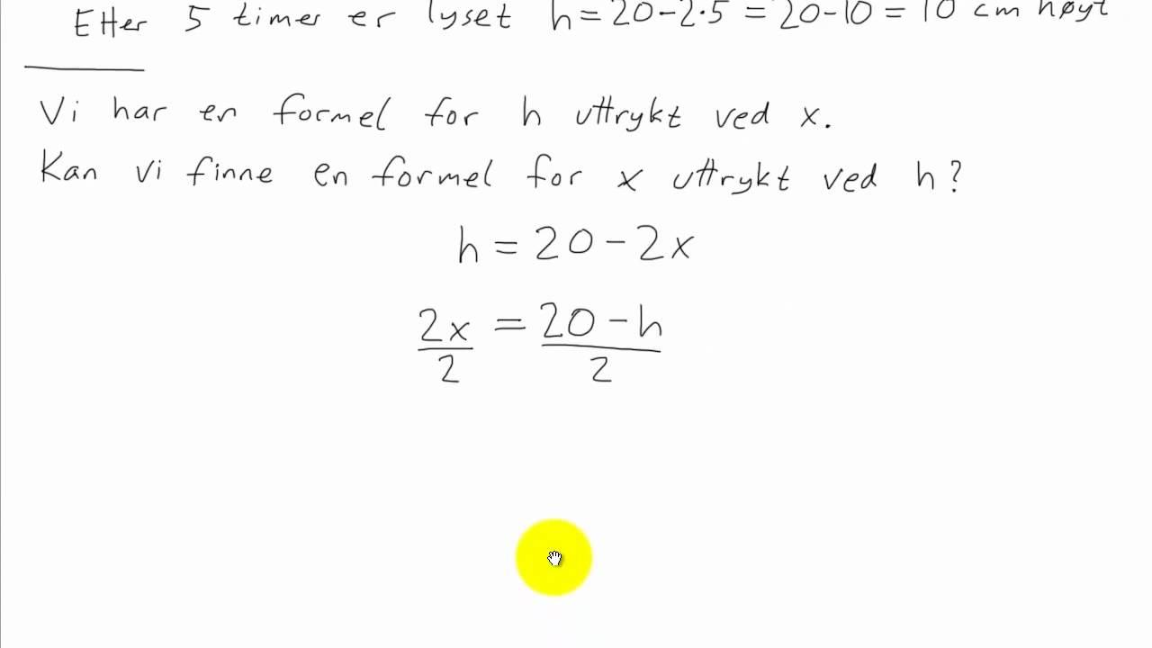 Matematikk 1P - 031 - Omforming av formler