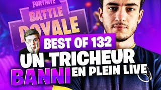 BEST OF SOLARY FORTNITE #132 ► UN TRICHEUR BANNI EN PLEIN LIVE !