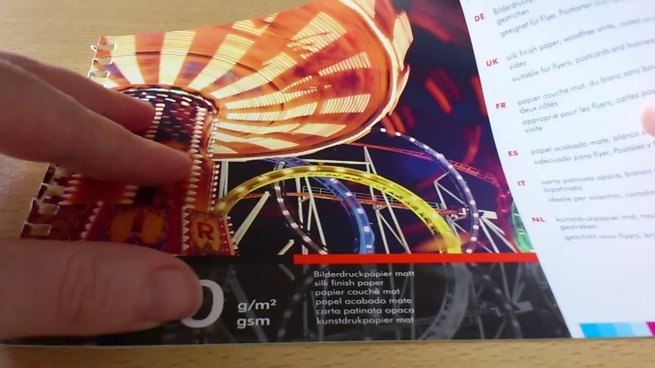 Bilderdruckpapier Matt 400 G M Youtube