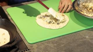 Cream Cheese and Green Chili Quesadilla