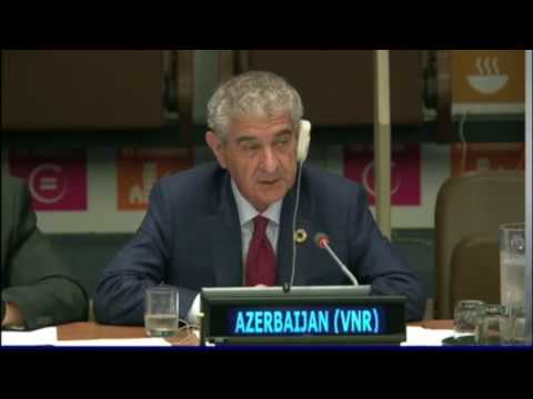Azerbaijan presents VNR at high-level ministerial meeting of the HLPF on SDGs