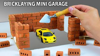 MINI GARAGE ---- BRICKLAYING ---- HOW TO BUILD A MINI BRICK WALL