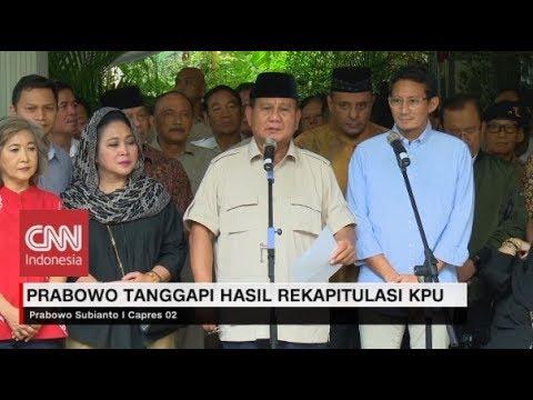 """Prabowo Tolak  Hasil Rekapitulasi """"Senyap-senyap"""" KPU"""
