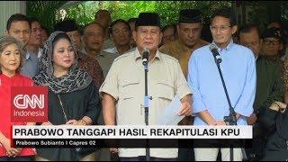 Prabowo Tolak  Hasil Rekapitulasi
