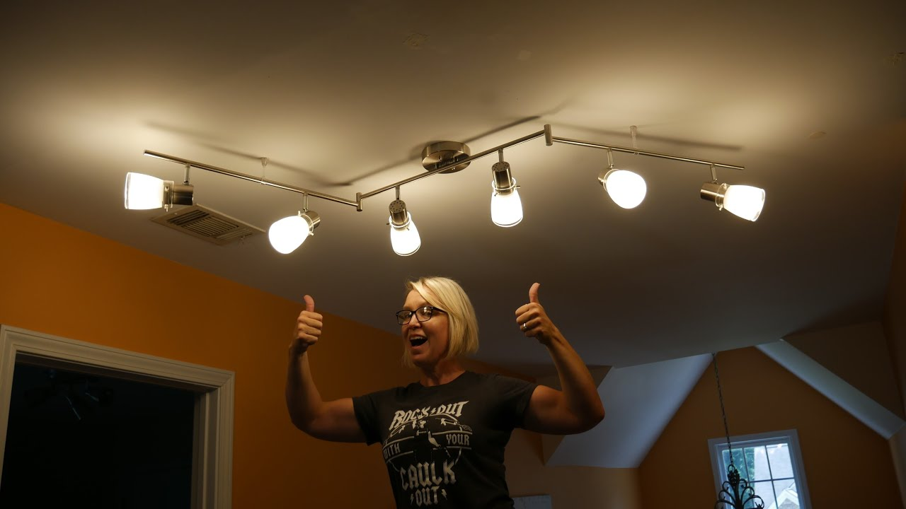 install or replace a light fixture featuring allen roth track light kit item 1157844