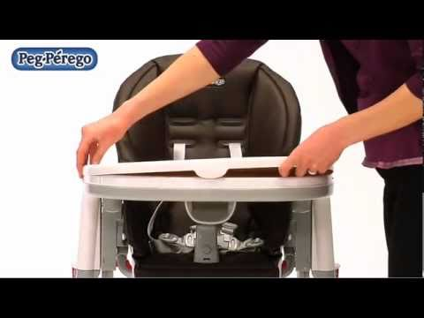 Peg perego tatamia youtube for Chaise haute peg perego