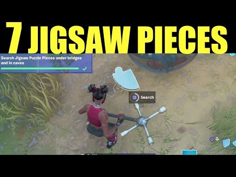 Search Jigsaw Puzzle Pieces - Fortnite ALL 7 Jigsaw Locations Under Bridges & In Caves Jigsaw Puzzle