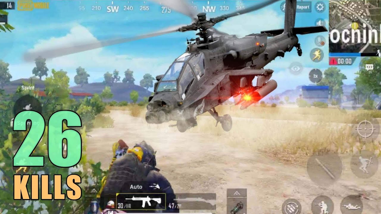 NEW HELICOPTER IN PUBG MOBILE | 26 KILLS | SOLO SQUAD