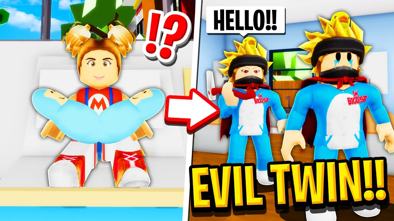 My SECRET EVIL Conjoined Twin in Roblox BROOKHAVEN RP!!