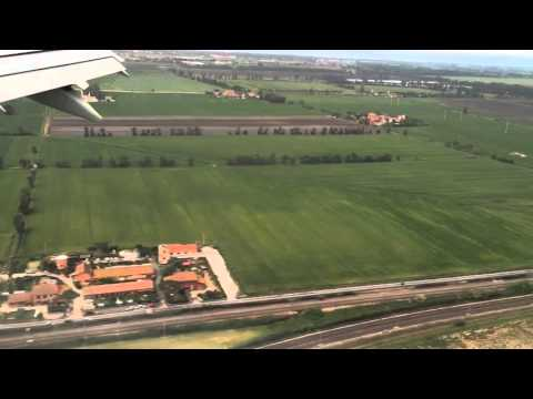 Flight On board view of Rome Italy and landing at Rome Airport really amazing........