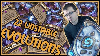 22 Unstable Evolutions in a single turn! | Elemental Shaman | Rastakhan