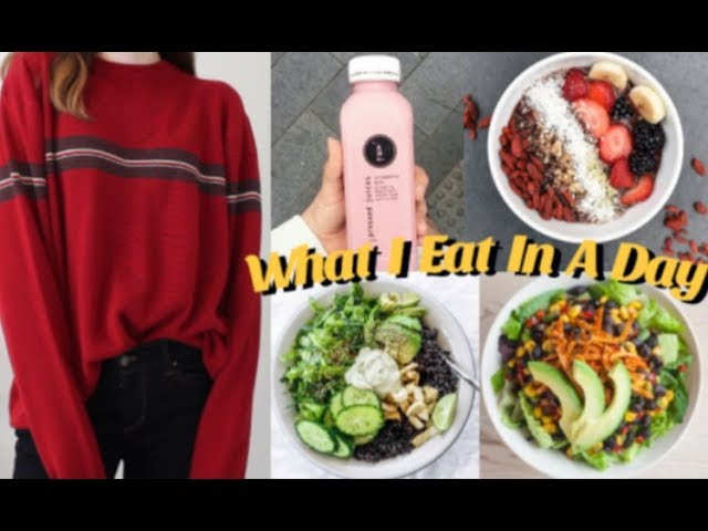 WHAT I EAT IN A DAY! ( Non vegan + Healthy )