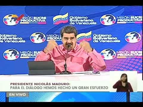 Maduro denuncia que Iván Duque intentó ordenar a oposición que se retiraran del diálogo