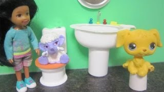 How To Make A Bathroom Sink  For Littlest Pet Shop Dolls - Recycling - Doll Crafts