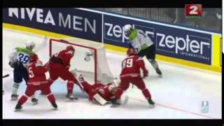 Хоккей 02 05 2015 Беларусь  Словения  4-2 Чемпионат мира 2015